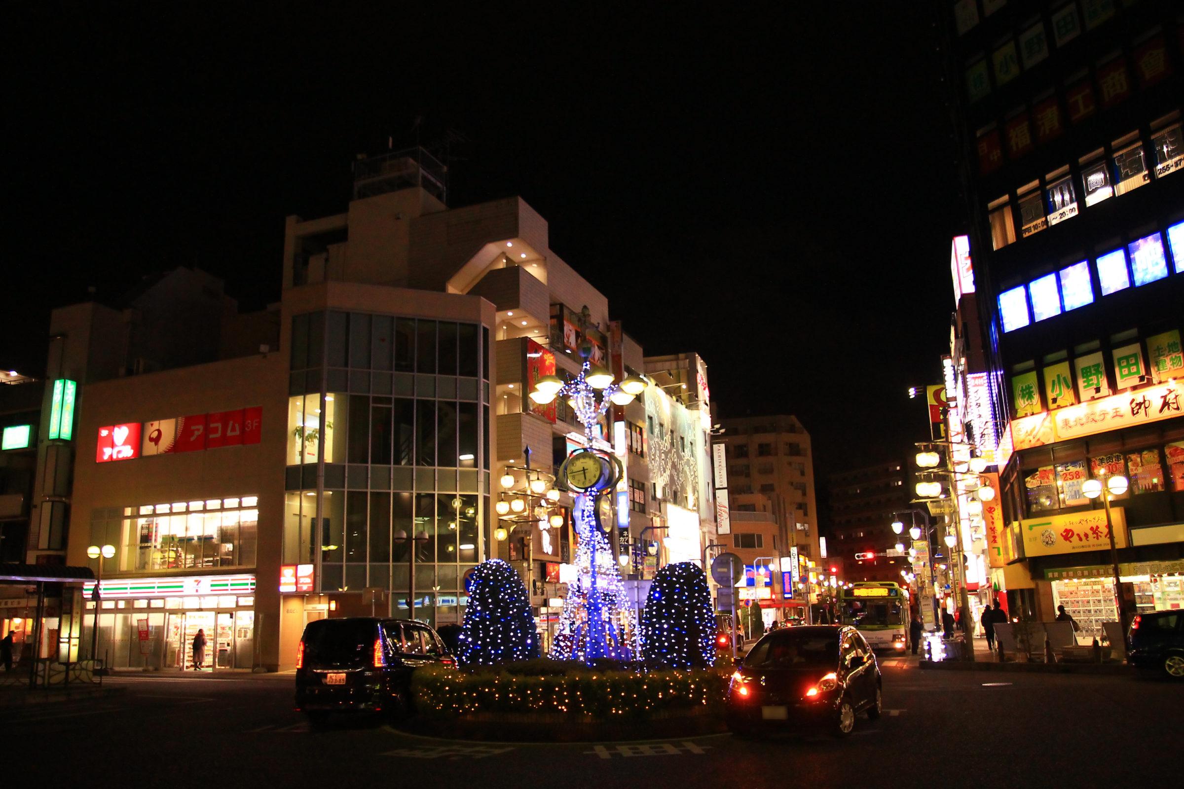 かわぐち光のファンタジー2020 西川口駅西口ロータリー