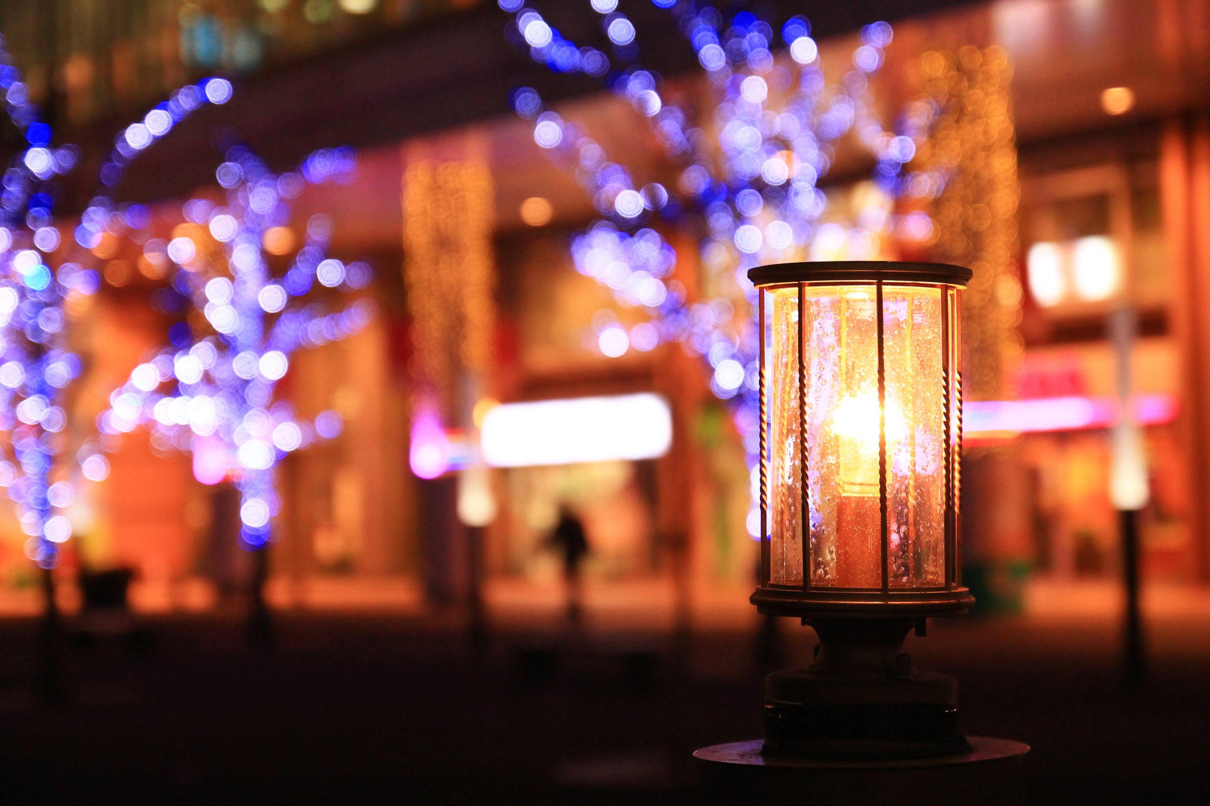 かわぐち光のファンタジー2020 キュポラ広場