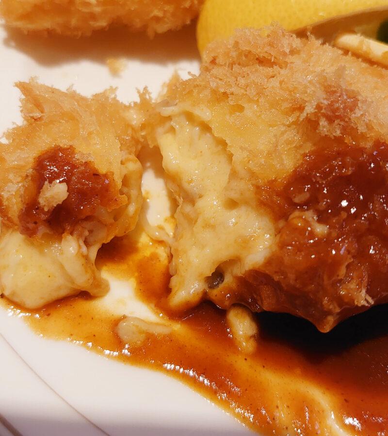 川口 レストラン ル・マルシェのエビフライとカニクリームコロッケ