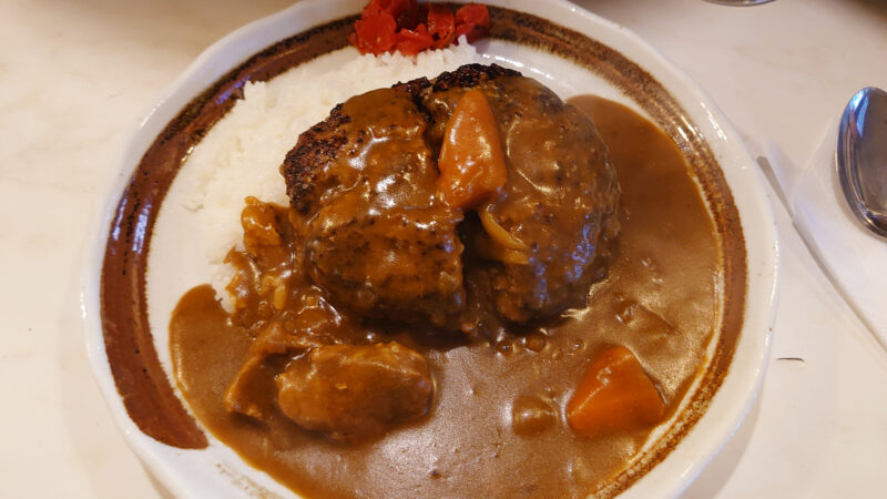 キッチンニュー南海 ハンバーグカレーライス