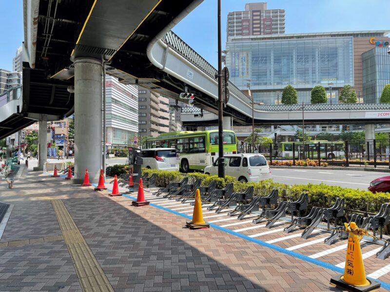 川口駅東口歩道上第1駐輪場
