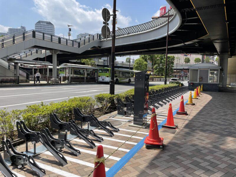 """川口駅東口歩道上第""""駐輪場"""