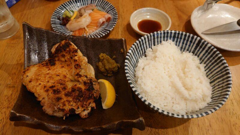 川口とさか 大山鶏の炭火焼き定食