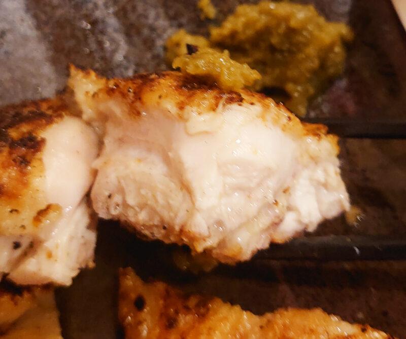 川口とさかの大山鶏の炭火焼き定食